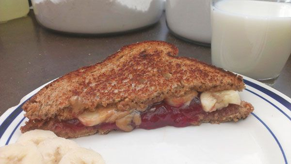Grilled Peanut Butter and Jelly Sandwich | Delicious Recipes | Pinter ...