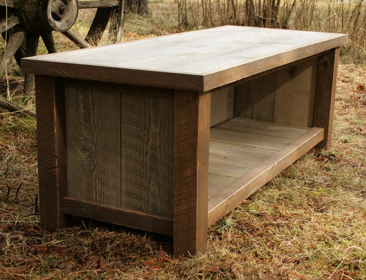 Rustic Reclaimed Mudroom Entry Bench 4 Home Stuff Pinterest