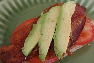 Bacon, Tomato and Avocado Tartines - Oh Sweet Basil