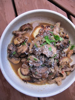 Mushroom Ragu on Gruyere Toast