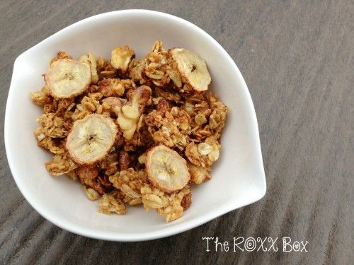 Banana Nut Granola @The ROXX Box www.theroxxbox.com