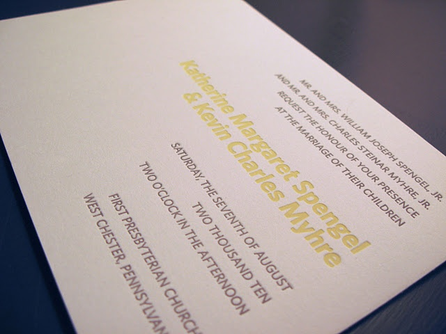 Our wedding diy quot letterpress quot wedding invitations