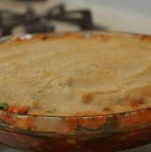 baked shepherd's pie by thewholekitchen.com (mashed cauliflower crust ...