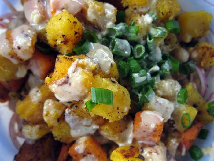 ... Composed: Warm Butternut Squash & Chickpea Salad with Tahini Dressing