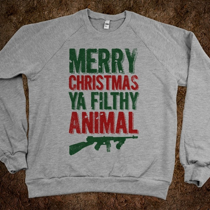 Merry christmas ya filthy animal sweater home alone