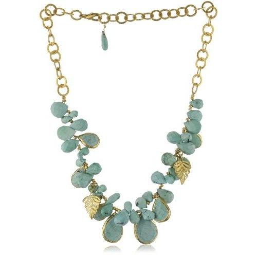 "Amazon.com: Zariin ""Strung Mystery"" Statement Turquoise Necklace: Jewelry"
