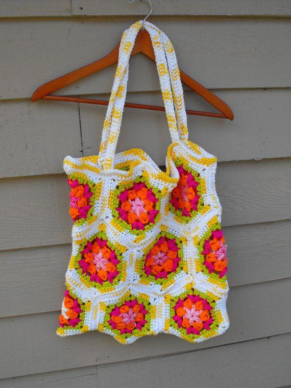 crochet hexagon bag