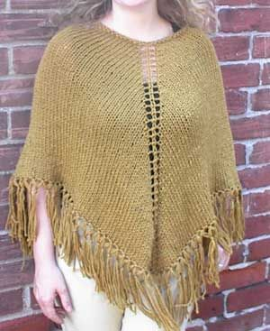 Basic poncho pattern Knitting Pinterest