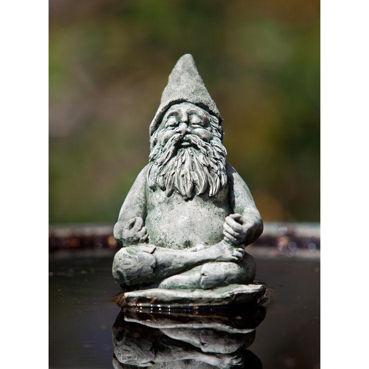 Campania International Fred The Meditating Gnome Cast Stone Garden Statue