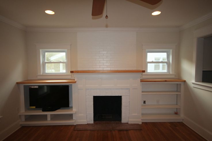 Shaker Surround With Bare Wood Mantel Home Pinterest