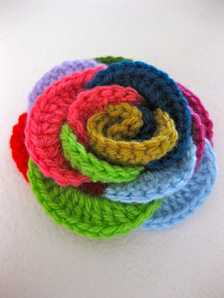 Loopy Roses ~ Crochet Pattern Crafty Crochet Flowers and appliques ...