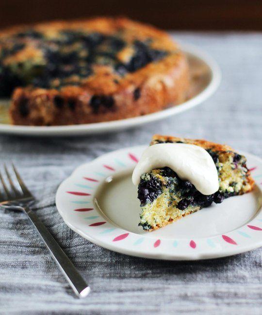 Recipe: Lemon-Blueberry Yogurt Cake with Lemon Cream — Recipes from ...