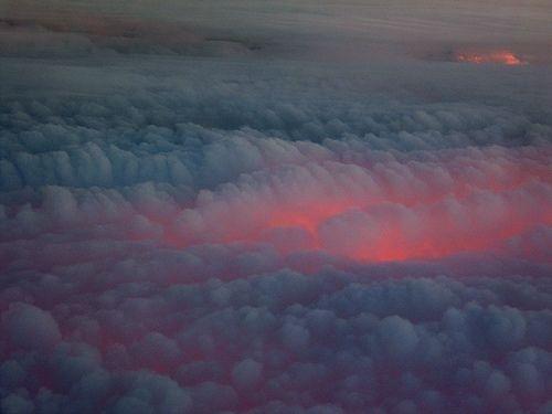 it looks like the earth is on fire.