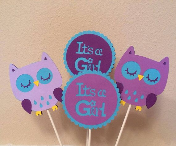 purple and teal owl themed baby shower by mybabyshowerboutique