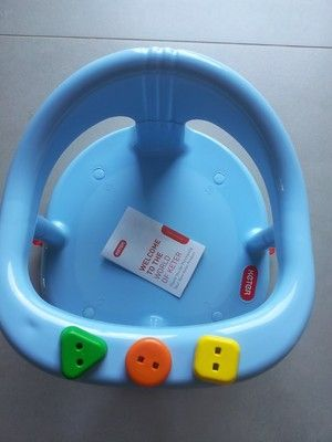 blue baby bath seat ring by keter tub with tracking number free shipp. Black Bedroom Furniture Sets. Home Design Ideas
