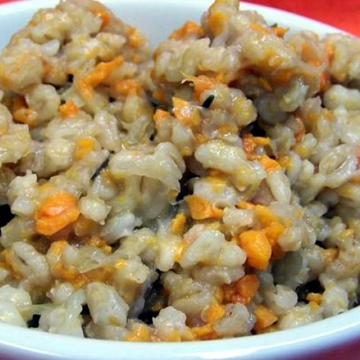Sweet Potato Barley Risotto in the Crock Pot Recipe. Um, YES!