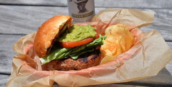 Green Chile Turkey burger - plated | Getting Healthy | Pinterest