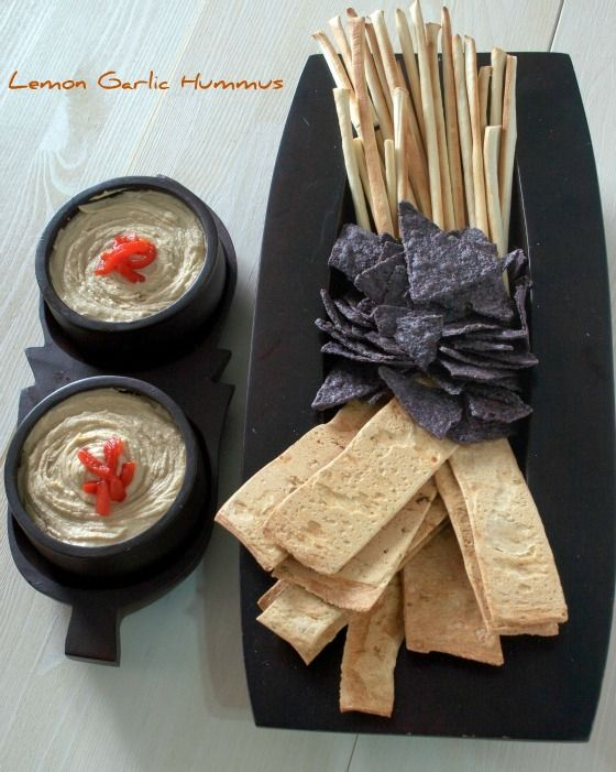 Lemon Garlic Hummus | Snacks & Quick Eats | Pinterest
