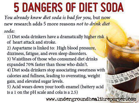 Dangers of drinking diet soda.