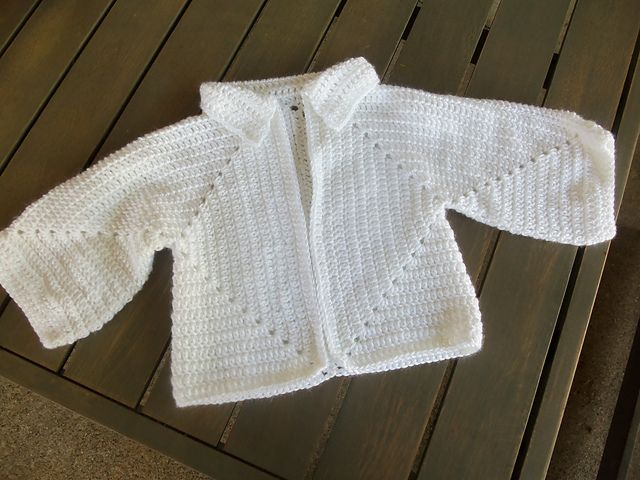 Knit Pattern Hexagon Sweater : Sues Hexagon Baby Sweater: free pattern Crochet ...