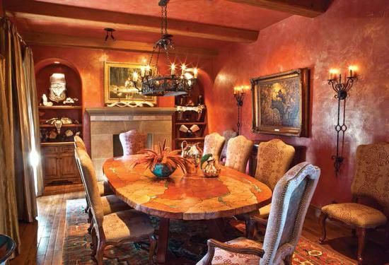 Los arcos native dining room western decor pinterest for Western dining room ideas