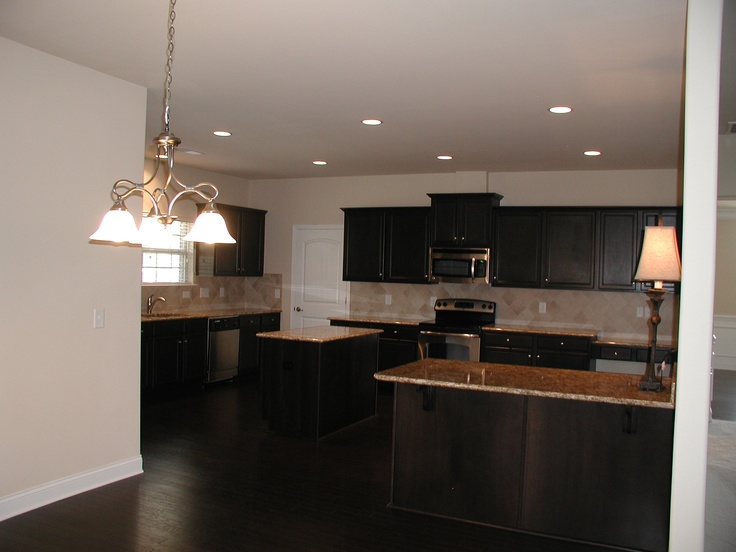 Gorgeous ebony cabinets and hardwoods  Kitchen  Pinterest