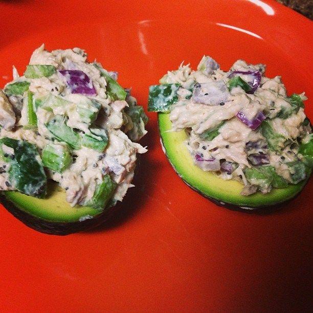 Tuna Stuffed Avocados Recipe — Dishmaps