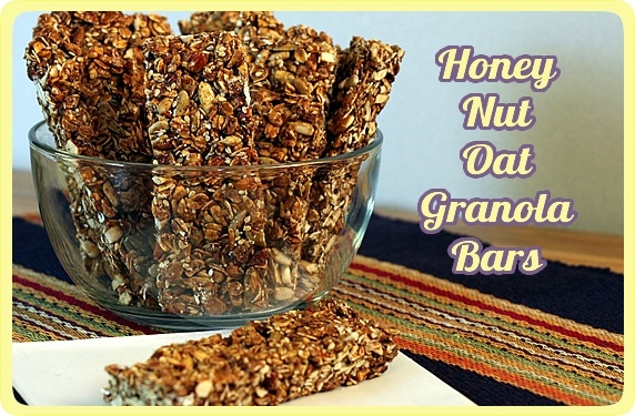 onday, August 29th, 2011 Honey Nut Oat Granola Bars -- A nutritious ...