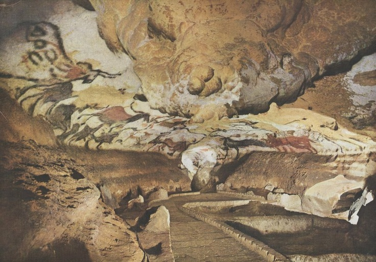 Hall of the Bulls - Paleolithic - Lascaux Caves, France c ...