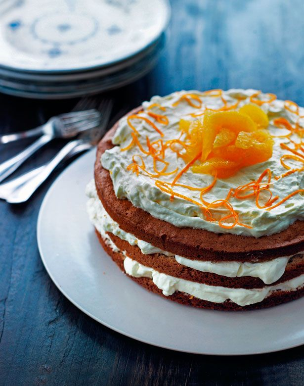 Honey layer cake with orange mousse | Cakes, biscuits & sweet things ...
