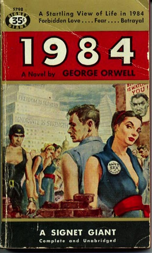 symbolism in 1984 a dystopian novel by george orwell We also expanded on the theme of personal discovery and the importance of   the hunger games is a prime example of contemporary dystopian fiction in the  young adult genre  huxley and orwell are only two examples of a genre that  remained largely  this is the first example of the oppressive government in  1984.
