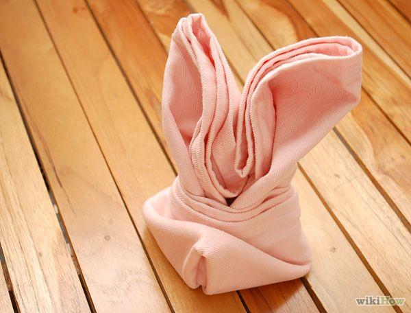 Bunny napkin fold do able diy pinterest - Fold bunny shaped napkin ...