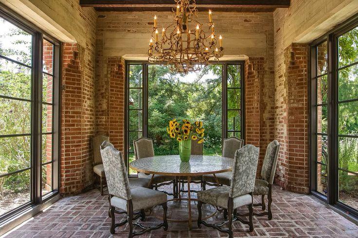 Rustic dining indoor outdoor room pinterest for Pinterest garden rooms