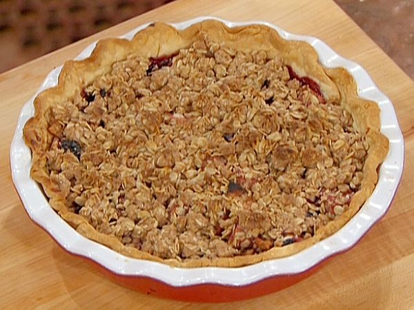 Apple and Cherry Pie with Oatmeal Crumble Topping from FoodNetwork.com