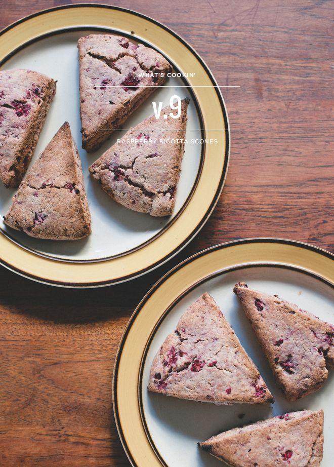 Whole Wheat Raspberry Ricotta Scones | sweet tooth | Pinterest