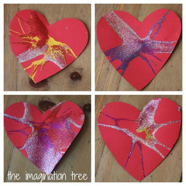 valentine art heart animals
