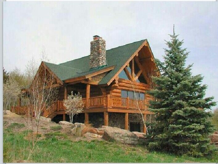 Log Home Country Home Pinterest