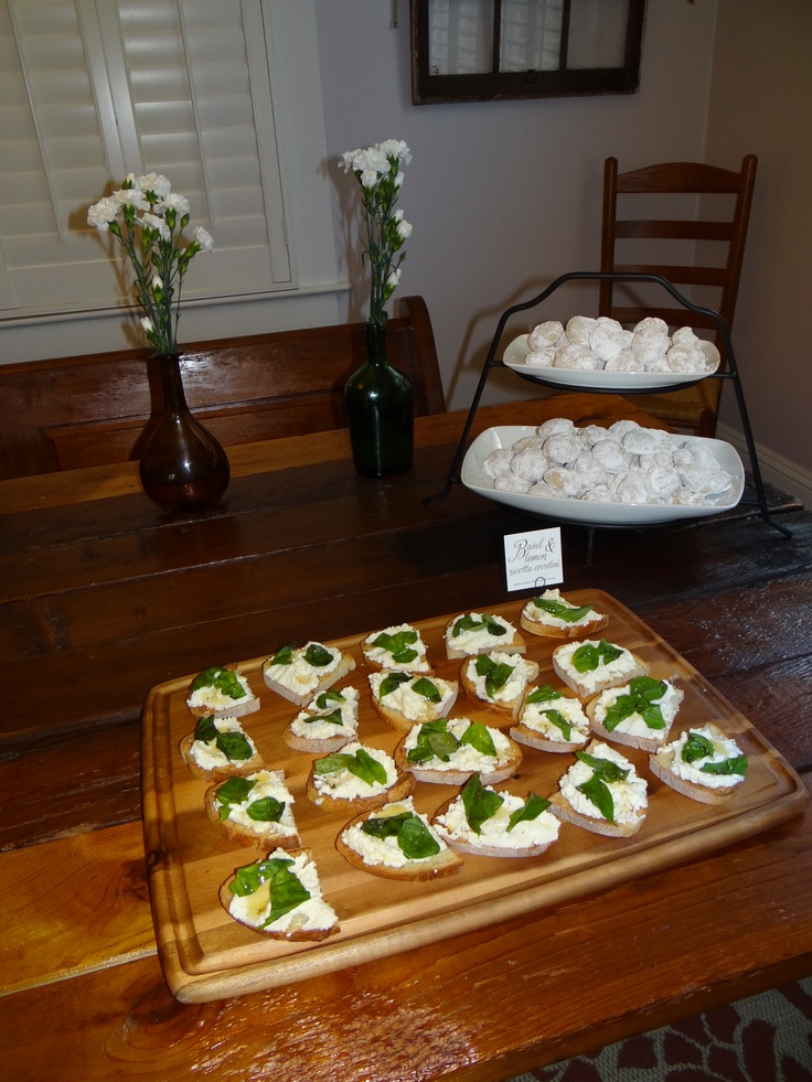 Lemoned Ricotta and Basil Crostini - just add the zest of 3 lemons to ...