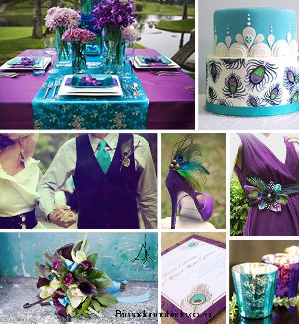 Turquoise And Purple Wedding: Purple And Turquoise Wedding