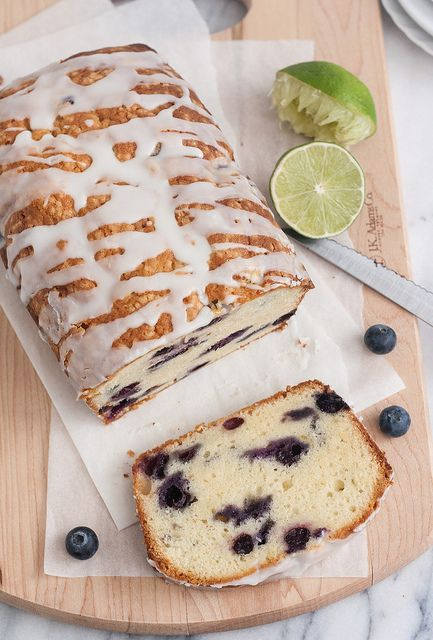 Blueberry-Lime Cream Cheese Pound Cake by Tracey's Culinary Adventures