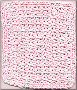 Lattice Stitch Dishcloth Crochet Washcloth Patterns Pinterest
