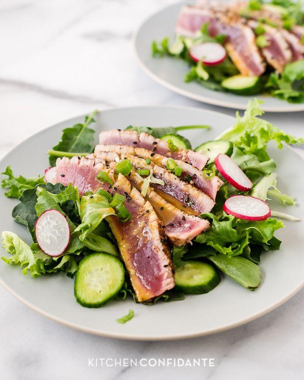 Seared Ahi Tuna Salad | food | Pinterest