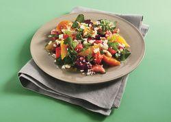 Now making - beet, rhubarb, orange salad (minus the feta)   whole food ...