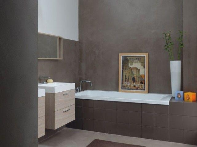 salle de bain peinture effet béton  For the Home  Pinterest