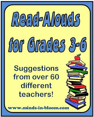 Over 60 Teacher Suggestions for Books to Read Aloud for Grades 3-5
