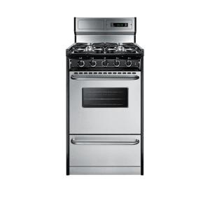 20 in cu ft gas range in stainless steel