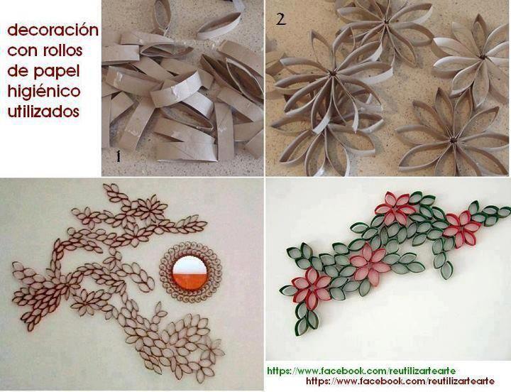 decoracion con rollos de papel higienico | Manualidades | Pinterest
