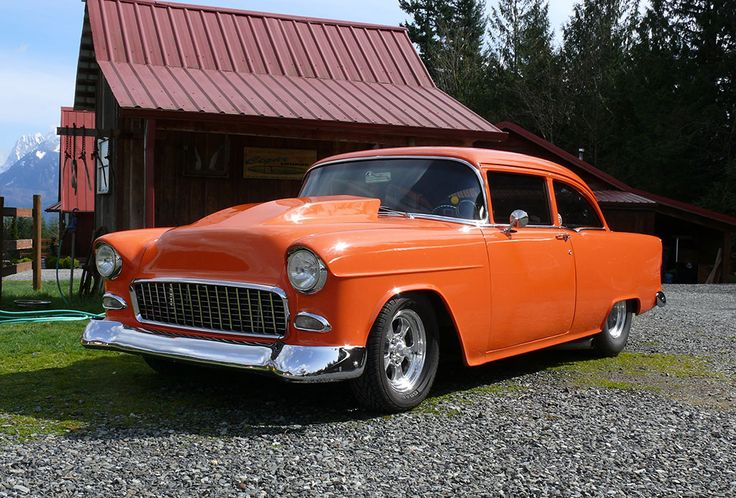 1955 Chevy Hot Rod Post Coupe