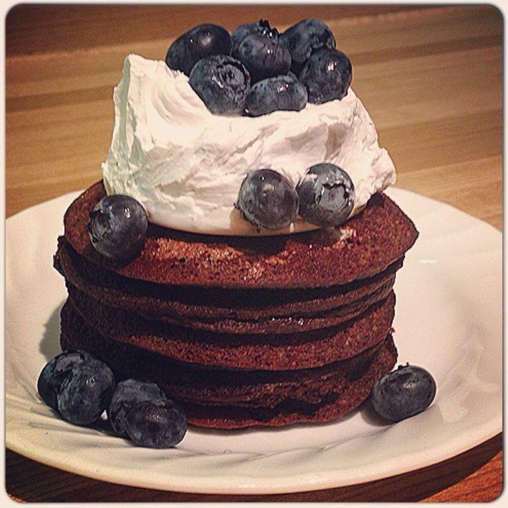 Brownie Batter Pancakes Recipe — Dishmaps