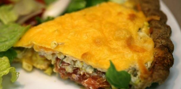 Easy and Delicious Corn-Tomato-Pie   Pies   Pinterest